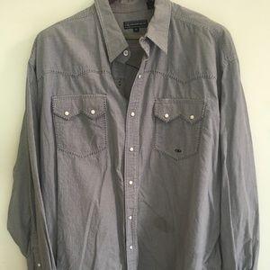 Western Pearl-snap long-sleeve shirt XXL